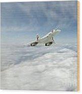 Concorde Legend Wood Print by J Biggadike
