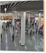Concourse At People's Square Subway Station Shanghai China Wood Print