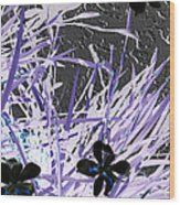 Concrete And Petals Wood Print by Sharon McLain