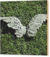 Concrete Angel Wood Print