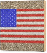Concrete Flag Wood Print