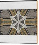 Concrete Flowers - Kaleidoscope - Pentaptych Wood Print