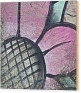 Concrete Flowers Wood Print