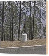 Concrete Pillar On A Highway Wood Print