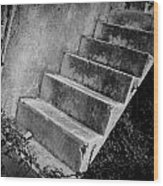 Concrete Steps Wood Print