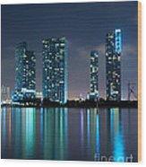 Condominium Buildings In Miami Wood Print