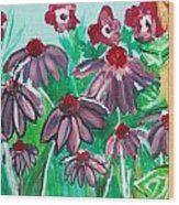 Coneflowers Wood Print