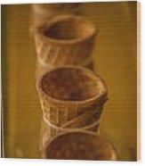 Cones On Display Wood Print