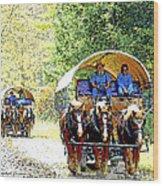 Conestoga Wagons Wood Print