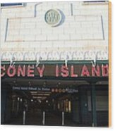 Coney Island Bmt Subway Station Wood Print
