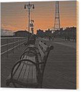 Coney Island Evening Wood Print