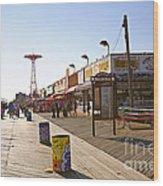 Coney Island Memories 8 Wood Print