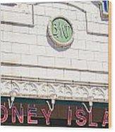 Coney Island Wood Print