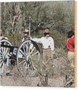 Confederate Battery Wood Print