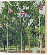 Confederate - Flags Of My Ancestors Wood Print