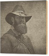 Confederate General Wood Print by Pat Abbott