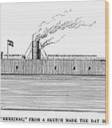 Confederate Ironclad, 1862 Wood Print