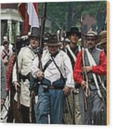 Confederate March Towards The River II Clr Wood Print