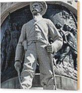 Confederate Soldier II Alabama State Capitol Wood Print