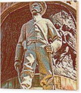 Confederate Soldier Statue I Alabama State Capitol Wood Print