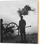 Confederate Twelve Pounder Fired - Perryville Ky Wood Print