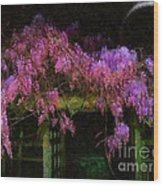 Confetti Of Blossoms Wood Print