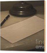 Confidential Letter Wood Print