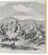 Conflict Between The 10th Hussars And Cossacks Wood Print