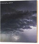 Confused Lightning Wood Print
