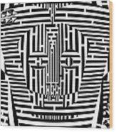 Confused Mask Maze  Wood Print