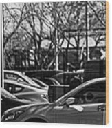 Confusing Commuter Reflections Wood Print
