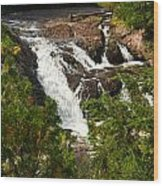 Conglomerate Falls Wood Print by Thomas Pettengill