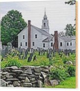 Congregational Church Cemetery Hollis Nh Wood Print by Janice Drew