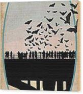 Congress Avenue Bridge Bats Wood Print