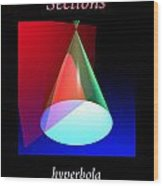 Conic Section Hyperbola Poster Wood Print