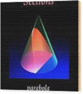 Conic Sections Parabola Poster 6 Wood Print