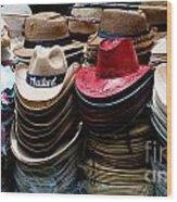Conical Hats 02 Wood Print