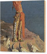 Conjuring Back The Buffalo Wood Print by Frederick Remington