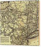 Connecticut And Western Railroad Map 1871 Wood Print