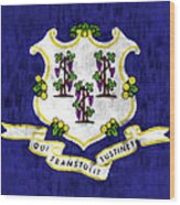 Connecticut Flag Wood Print
