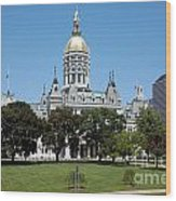 Connecticut State Capitol Hartford Wood Print