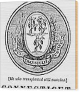 Connecticut State Seal Wood Print