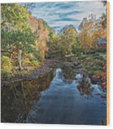 Connecticut Sunset Wood Print
