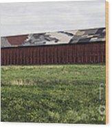 Connecticut Tobacco Barn Wood Print