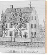 Connecticut Webb House Wood Print