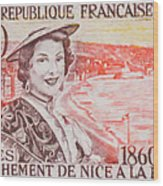 Connecting The Nice France 1860-1960 Wood Print