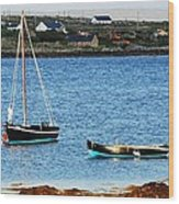 Connemara Boats Wood Print