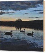 Conneticut Lake Wood Print