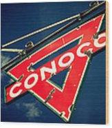 Conoco Wood Print