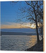 Conowingo Sunrise Wood Print